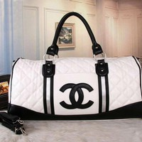 VONE056 CHANEL Women Fashion Leather Tote Handbag Travel Luggage Bag