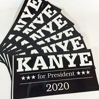1 KANYE WEST FOR PRESIDENT 2020 BUMPER STICKER Vinyl MADE IN THE USA DECAL
