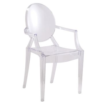 Clear Ghost Arm Chair