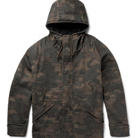 Yeezy x Adidas Originals - Oversized Hooded Camouflage-Print Cotton-Canvas Jacket | MR PORTER