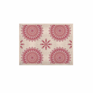 "Julia Grifol ""Geometric Mandalas"" Red White KESS Naturals Canvas (Frame not Included)"