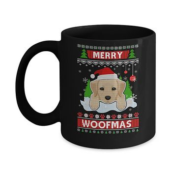 Labrador Merry Woofmas Ugly Christmas Sweater Mug
