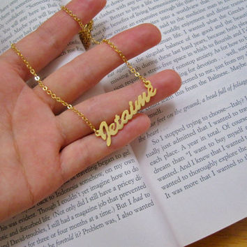 Personalized Gold Name Necklace