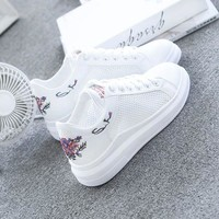 DAOKFPO 2018 Fashion White Shoes Female Summer Casual Breathable Platforms Women Sneakers Student Shoes Zapatos Tenis Feminino