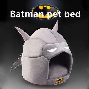 Batman Dark Knight gift Christmas Batman Dog Mat Cat Kennel Shape Dog House Pet Dog Bed Cat Bed House For Small Medium Dog Warm Pet Puppy Bed Chihuahua Totoro Bed AT_71_6