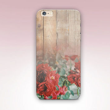 Rose Wood Print Phone Case- iPhone 6 Case - iPhone 5 Case - iPhone 4 Case - Samsung S4 Case - iPhone 5C - Tough Case - Matte Case - Samsung