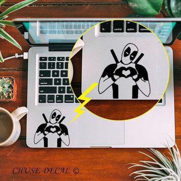"""Deadpool Dead pool Taco Hippie  Heart Hand Touchpad Skin Laptop Trackpad Sticker for 11"""" 12"""" 13"""" 15 Macbook Air / Pro / Retina Notebook Decal AT_70_6"""