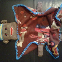 Sock Monkey Lil Buddy Blanket