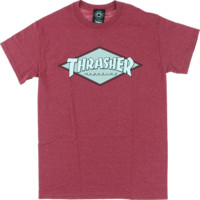 THRASHER DIAMOND SS S-CARDINAL HEATHER