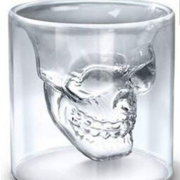 Skull Cup Transparent Glass Crystal FREE SHIPPING !!!