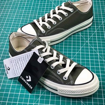 Converse Chuck Taylor All Star 1970s Dark Green Canvas Shoes - Best Online Sale