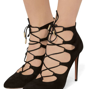 Flirt Lace-Up Booties