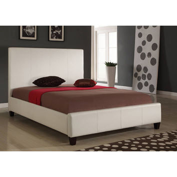 Modus Mambo Upholstered Low Profile Panel Bed in Ivory