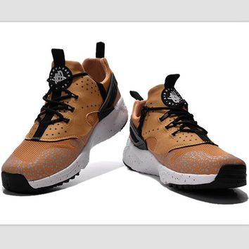 NIKE warm casual shoes sports running shoes Gold