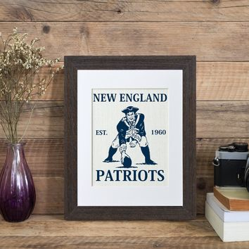 New England Patriots (white burlap)