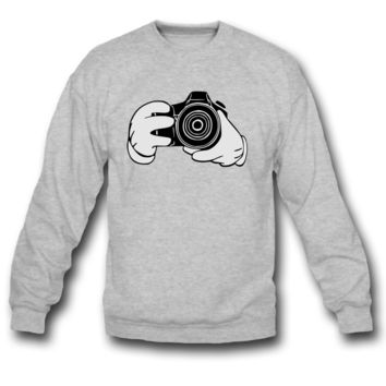 MICKEY HAND TAKING A PICTURE  SWEATSHIRT CREWNECK