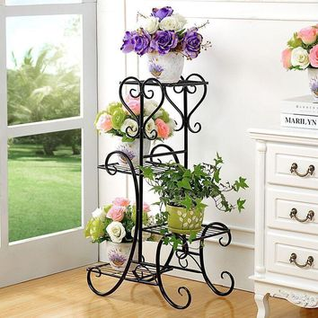 Terrasse Decorative Metal Shelf Garten Dekoration Decoration Exterieur Decorer Flower Balcon Balkon Balcony Stand Plant Rack
