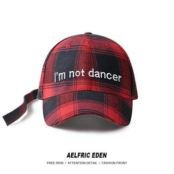 Trendy Winter Jacket Aelfric Eden Men Dad Cap I'm Not Dancer Embroidery Plaid 2018 Fashion Hip Hop Caps Adjustable Casual Snapback Camp Hats SNL01 AT_92_12