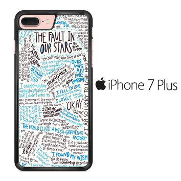 TFIOS Quotes Writen iPhone 7 Plus Case