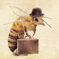 Worker Bee Art Print by Eric Fan | Society6