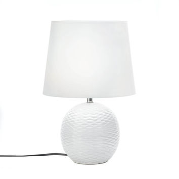 Bedside Table Lamp, Small Ceramic Modern Bedside Table Lamp White