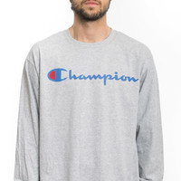 Champion LIFE, Patriotic Logo L/S Shirt - Oxford Grey - Champion - MOOSE Limited