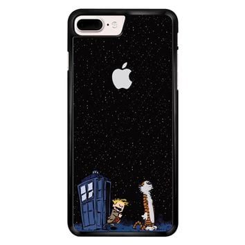 Calvin And Hobbes Apple Tardis iPhone 7 Plus Case