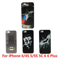 Marvel Hero Captain America Design Case Cover For Apple iPhone 4 4S 5 5S 5C 6 6 Plus