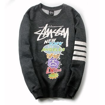 Trendsetter Stussy Women Men Fashion Casual Top Sweater Pullover