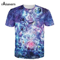 Raisevern New Trippy Design 3D T Shirt All-over Print Transcension T-shirt Summer Style Fashion Top M-XXL