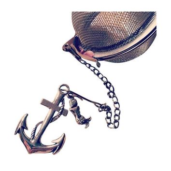 Mermaid Anchor Mesh Ball Tea Infuser