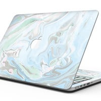 Marbleized Swirling Blue v2 - MacBook Pro with Retina Display Full-Coverage Skin Kit