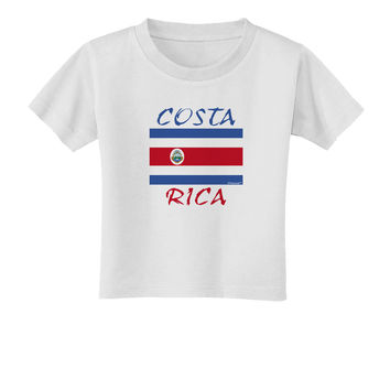 Costa Rica Flag Toddler T-Shirt