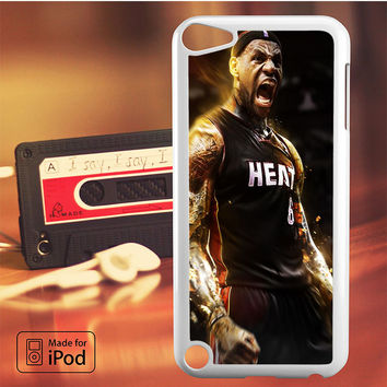 Lebron James Screaming Miami Heat iPod Touch 4 5 6 Case Cover