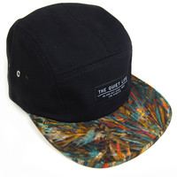 Quiet Life: Stroke 5 Panel Hat - Black - Black / One