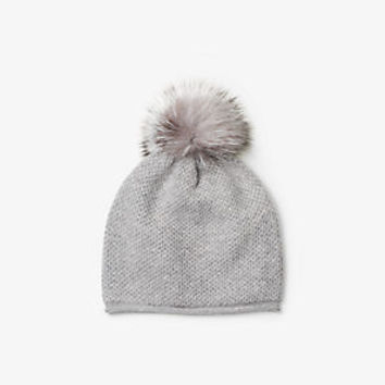 Cashmere and Fur Pom-Pom Beanie | Michael Kors