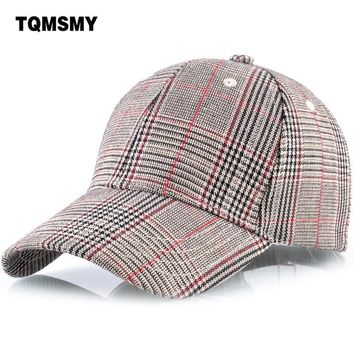 Trendy Winter Jacket TQMSMY Classic plaid men baseball cap for women men snapback hats casquette Outdoor summer baseball hat caps TMBS55 AT_92_12