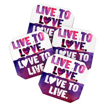 CMYKaren Live To Love Coaster Set