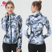 Yoga jacket eagle rock printing yoga Long Sleeve black Printing Yoga Jacket