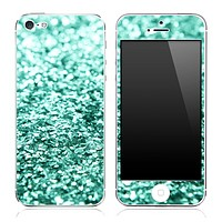 Turquoise Sparkled V2 Skin for the iPhone 3gs, 4/4s or 5