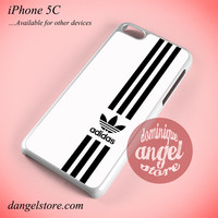 White Straight Adidas Phone case for iPhone 5C and another iPhone devices