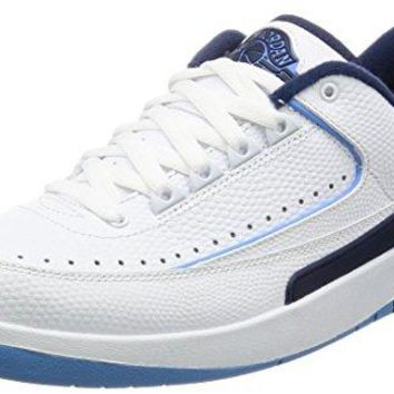 Nike Air Jordan 2 Retro Low 832819-107 White/Blue Leather Men's Basketball Shoes (size 10.5)