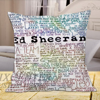 Colorful Ed Sheeran Poster  on Square Pillow Cover