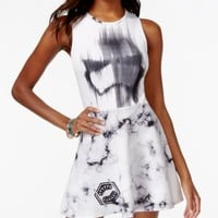 Juniors' Star Wars Stormtrooper Printed Fit-and-Flare Dress from Mighty Fine | macys.com