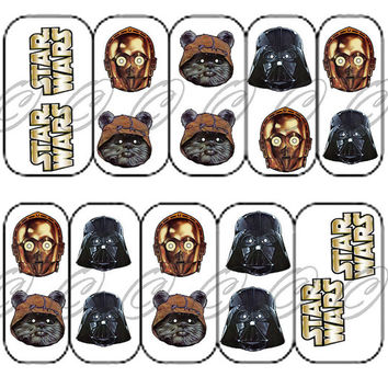Star Wars R2d2 Cpo Nail Art Decals 20 From Bubblingspace On Etsy