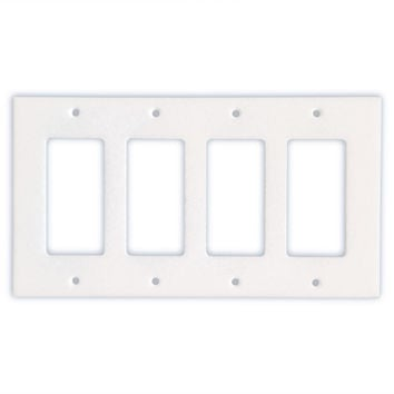 Thassos White Marble Quadruple Rocker Switch Wall Plate / Switch Plate / Cover - Honed