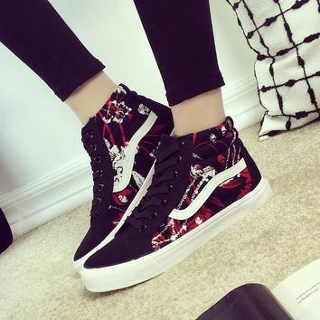 High-top Flat Korean Casual Shoes [12149151443]