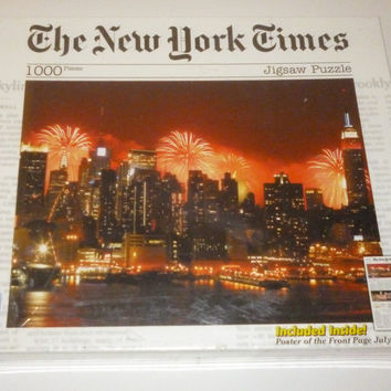 The New York Times Celebrating the Nation's Birthday 1000 Piece Jigsaw Puzzle