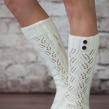 The Luxe 2 Button Knit Socks
