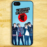 5SOS Retro Clasic Style Design for iPhone  4 4s 5 5s 5c iPod 4 5 Touch and Samsung Galaxy s3 s4 s5 Case
